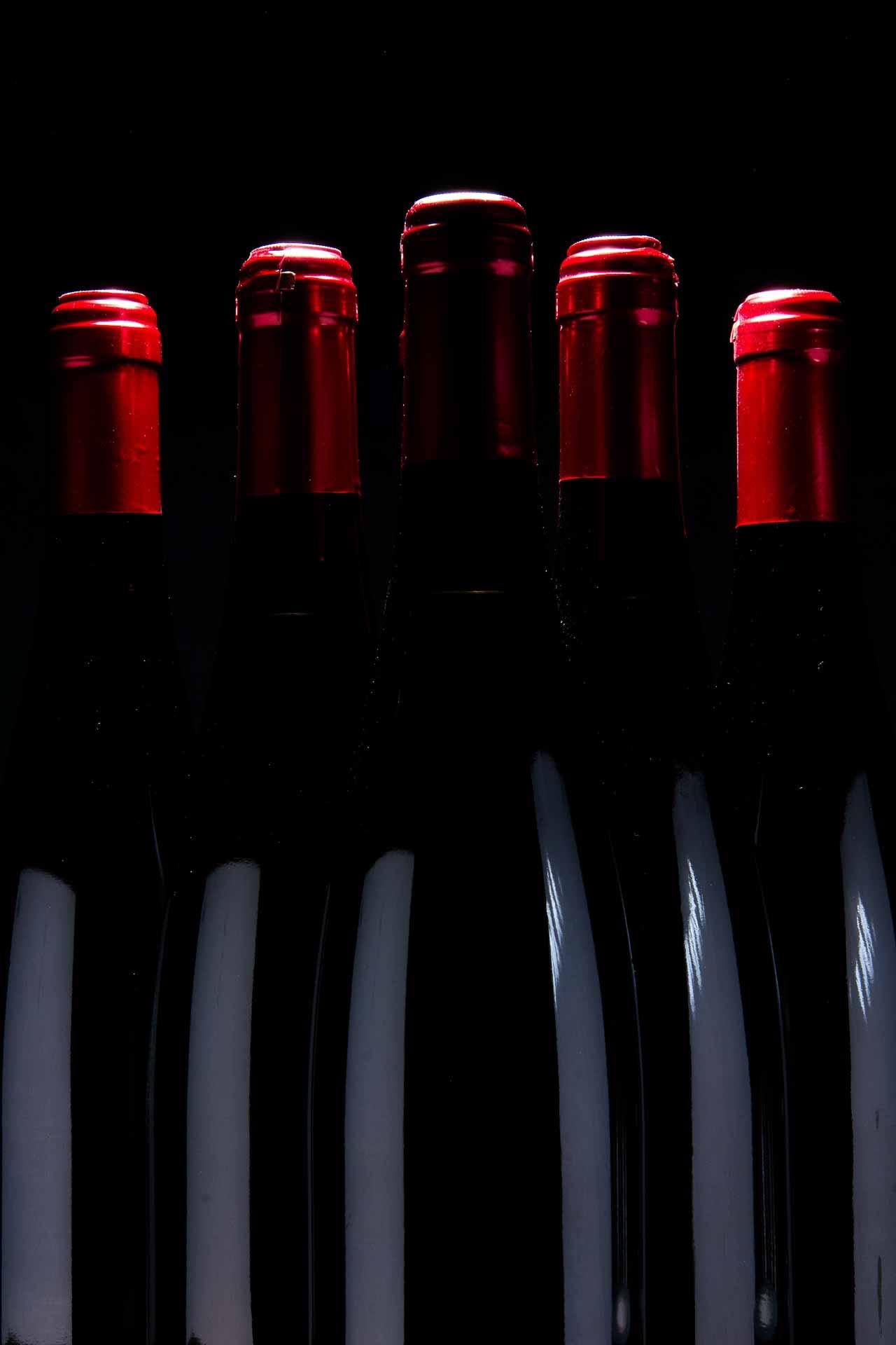 produktfoto af vinflasker